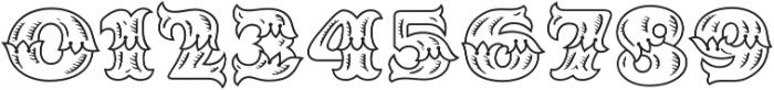 MFC Redding Monogram Regular otf (400) Font OTHER CHARS