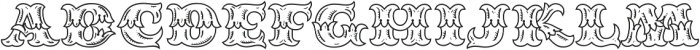MFC Redding Monogram Regular otf (400) Font UPPERCASE