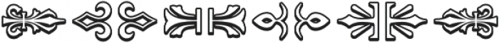 MFC Royaume Monogram Outline Regular otf (400) Font OTHER CHARS