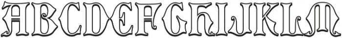 MFC Royaume Monogram Outline Regular otf (400) Font UPPERCASE