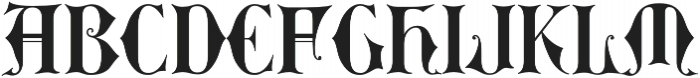 MFC Royaume Monogram Solid Regular otf (400) Font UPPERCASE