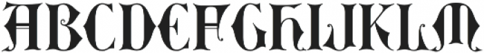 MFC Royaume Monogram Solid Regular otf (400) Font LOWERCASE