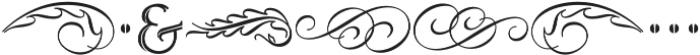 MFC Ruse Monogram Regular otf (400) Font OTHER CHARS