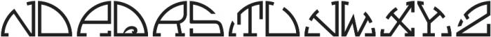 MFC Semicirculus Monogram Regular otf (400) Font LOWERCASE