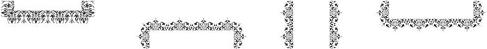 MFC Stencil Borders One Regular otf (400) Font UPPERCASE