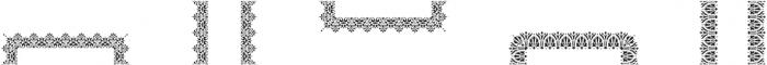 MFC Stencil Borders One Regular otf (400) Font LOWERCASE
