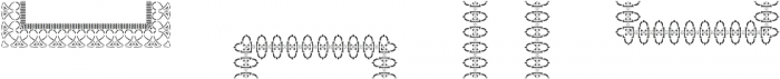 MFC Stencil Borders Three A otf (400) Font UPPERCASE