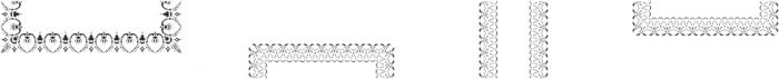 MFC Stencil Borders Three A otf (400) Font LOWERCASE