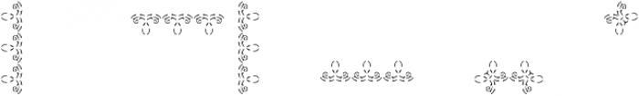 MFC Stencil Borders Three B otf (400) Font OTHER CHARS