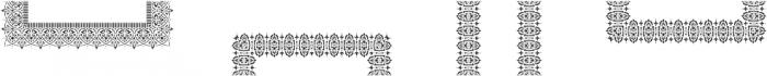 MFC Stencil Borders Three Regular otf (400) Font UPPERCASE