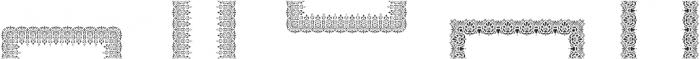 MFC Stencil Borders Three Regular otf (400) Font LOWERCASE