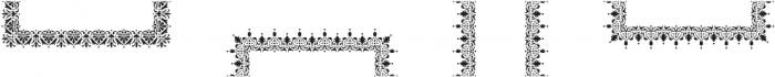 MFC Stencil Borders Two Regular otf (400) Font UPPERCASE