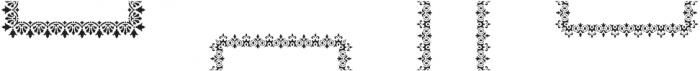 MFC Stencil Borders Two Regular otf (400) Font LOWERCASE