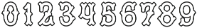 MFC Tagliato Monogram Outline Regular otf (400) Font OTHER CHARS