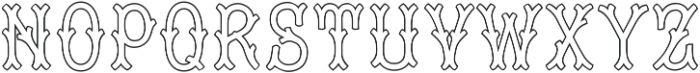 MFC Tagliato Monogram Outline Regular otf (400) Font UPPERCASE