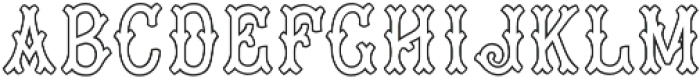 MFC Tagliato Monogram Outline Regular otf (400) Font LOWERCASE
