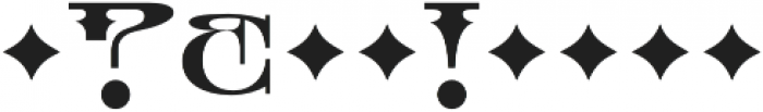 MFC Tattersaw Monogram Regular otf (400) Font OTHER CHARS