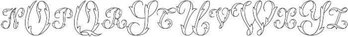 MFC Thornwright Monogram Regular otf (400) Font UPPERCASE