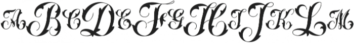 MFC Thornwright Monogram Solid otf (400) Font LOWERCASE