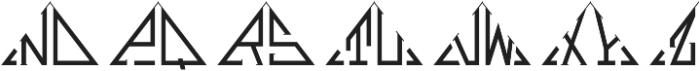 MFC Triangulus Monogram Regular otf (400) Font UPPERCASE