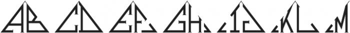 MFC Triangulus Monogram Regular otf (400) Font LOWERCASE