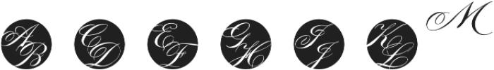 MFC Tryst Monogram Regular otf (400) Font LOWERCASE