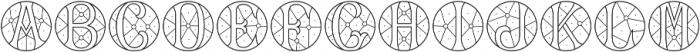 MFC Verre Monogram Regular otf (400) Font UPPERCASE