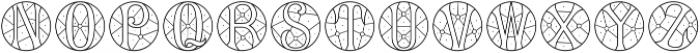MFC Verre Monogram Regular otf (400) Font LOWERCASE