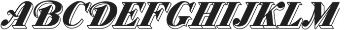 MFC Westport Monogram Regular otf (400) Font UPPERCASE