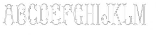 MFC Budding Monogram Font UPPERCASE