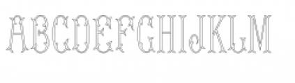 MFC Budding Monogram Font LOWERCASE