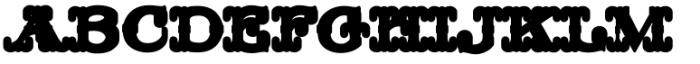 MFC Livermore Monogram Extruded Font UPPERCASE