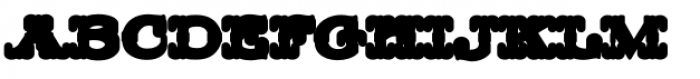 MFC Livermore Monogram Extruded Font LOWERCASE