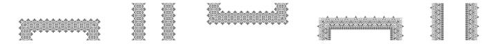 MFC Stencil Borders Three Regular Font UPPERCASE