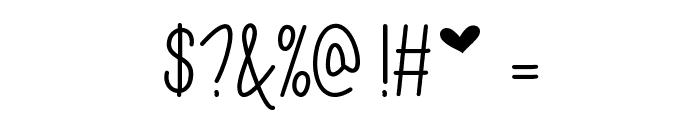 Mf I Love Glitter Font OTHER CHARS