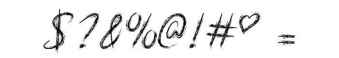Mf Scribble Script Font OTHER CHARS