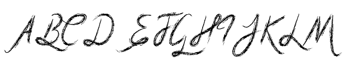 Mf Scribble Script Font UPPERCASE