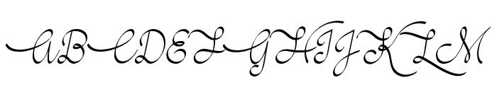 Mf Wedding Bells Font UPPERCASE
