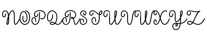 Mf Yellow Butterflies Font UPPERCASE
