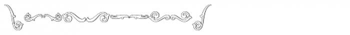 MFC Aldercott Monogram 10000 Impressions Font OTHER CHARS