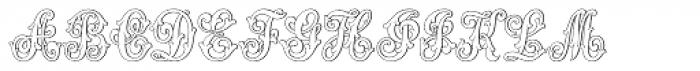 MFC Aldercott Monogram 10000 Impressions Font UPPERCASE