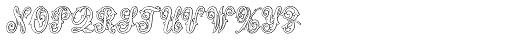 MFC Aldercott Monogram 10000 Impressions Font LOWERCASE