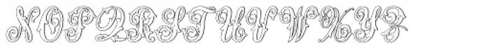 MFC Aldercott Monogram 25000 Impressions Font UPPERCASE
