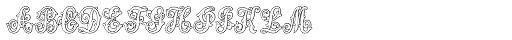 MFC Aldercott Monogram 25000 Impressions Font LOWERCASE