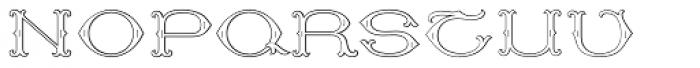MFC Baelon Monogram 25000 Impressions Font UPPERCASE