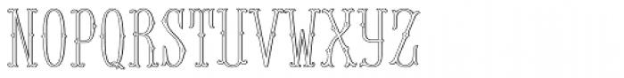 MFC Baelon Monogram 25000 Impressions Font LOWERCASE