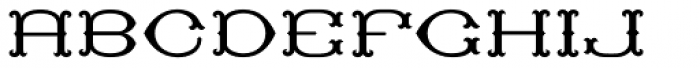 MFC Baelon Monogram Solid 10000 Impressions Font UPPERCASE