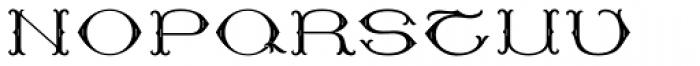 MFC Baelon Monogram Stencil 1000 Impressions Font UPPERCASE