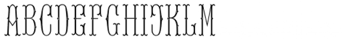 MFC Baelon Monogram Stencil 1000 Impressions Font LOWERCASE