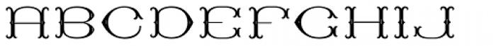 MFC Baelon Monogram Stencil 10000 Impressions Font UPPERCASE